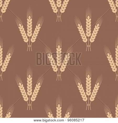 Seamless pattern with wheat ears. Vector illustration.