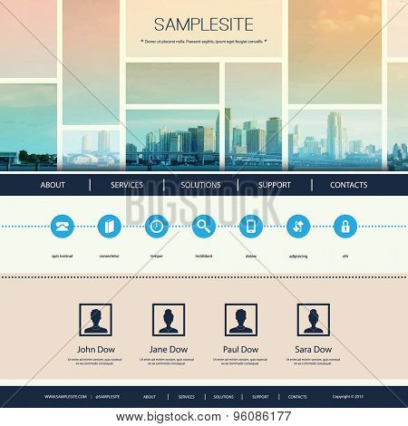 Website Design for Your Business with Miami Skyline