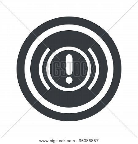 Round black alert sign