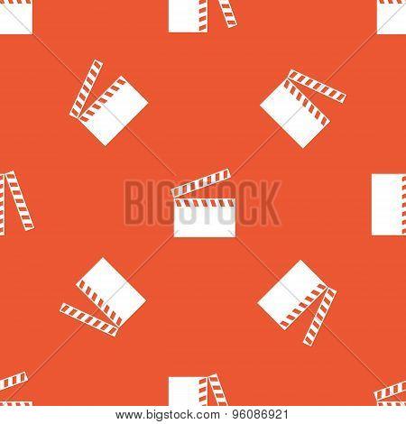 Orange clapperboard pattern