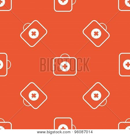 Orange first aid kit pattern