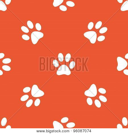 Orange paw pattern