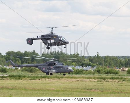 Demonstration Helicopter At An Airshow