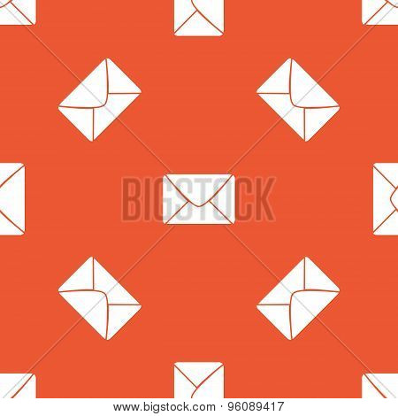 Orange letter pattern