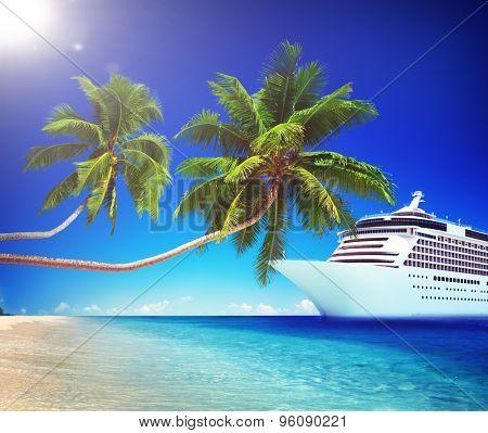 Tropical Paradise Beach Cruise Ocean Concept