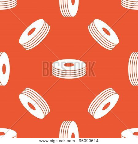 Orange disc pile pattern