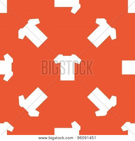 Orange T-shirt pattern