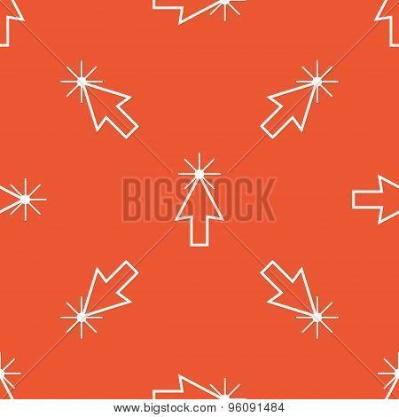 Orange arrow cursor pattern