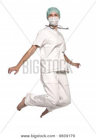 Jumping nurse