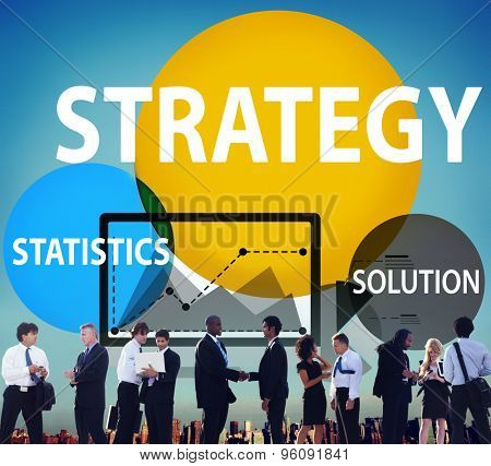Strategy Solution Tactics Statistics Growth Concept