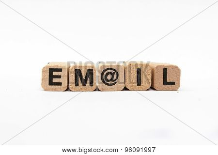 email / mail  - text on white background