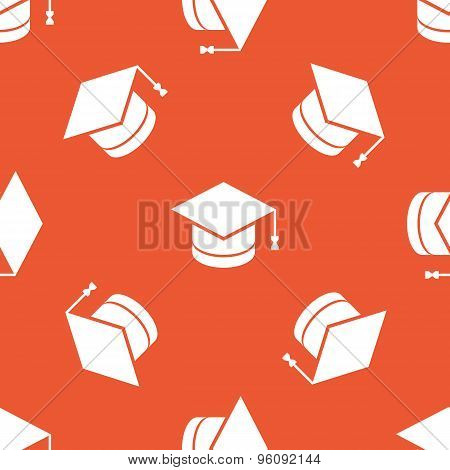 Orange academic hat pattern