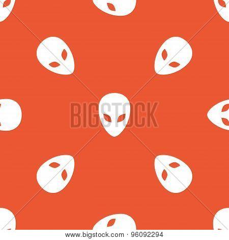Orange alien pattern