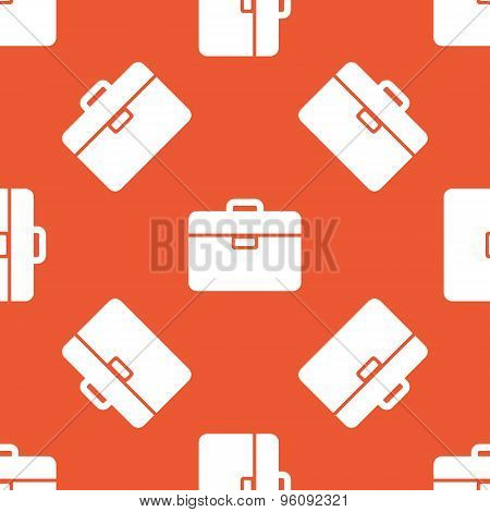 Orange briefcase pattern