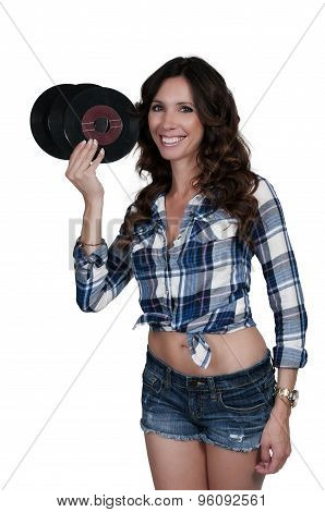 Woman With 45 Records