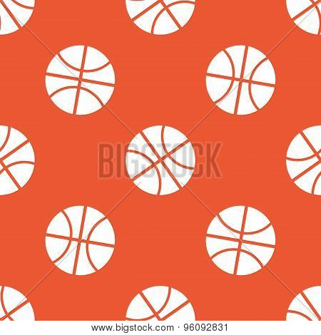 Orange basketball pattern