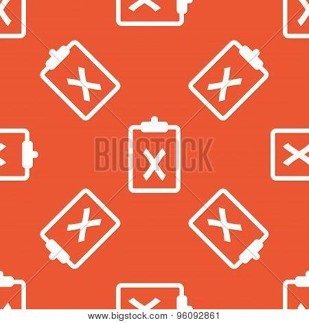 Orange clipboard NO pattern