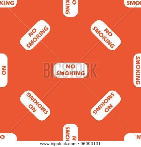 Orange NO SMOKING pattern