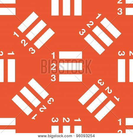 Orange numbered list pattern