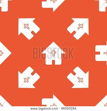 Orange christian house pattern