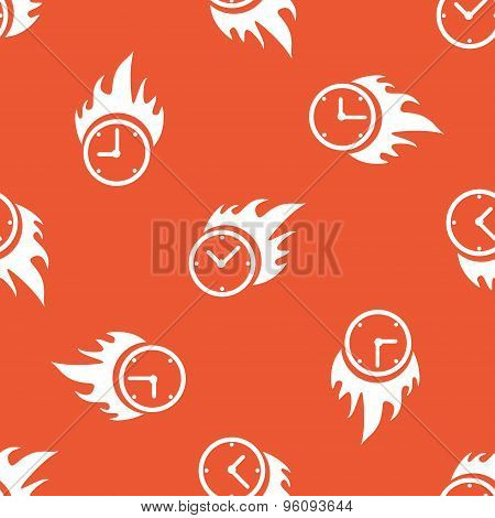 Orange burning time pattern