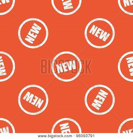 Orange NEW sign pattern