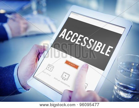 Accessible Approachable Attainable Available Business Concept