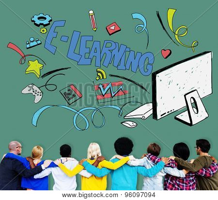 E-learning Education Global Communication Technology Concept