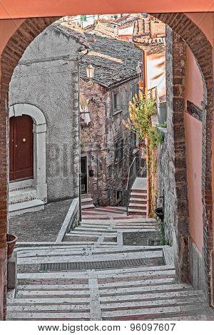 stairway in alley