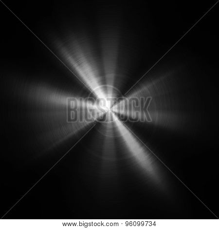 black metal plate with light background