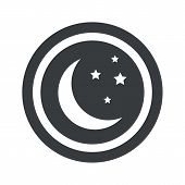 image of crescent-shaped  - Image of crescent moon and stars in circle - JPG
