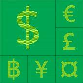 stock photo of yen  - Currency symbol dollar - JPG
