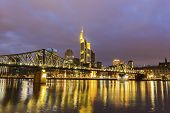 picture of frankfurt am main  - Frankfurt am Main in Germany in the evening - JPG