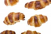 Croissant Isolated On White Close Up