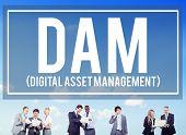 pic of dam  - DAM Digital Asset Management Organization Concept - JPG