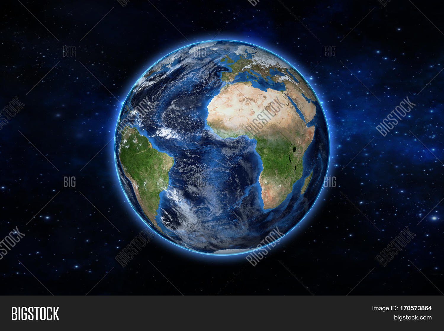 Blue Planet Earth Space Showing Image Photo Bigstock - Globe of usa