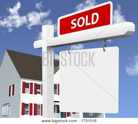 Home Sold Real Estate Sign