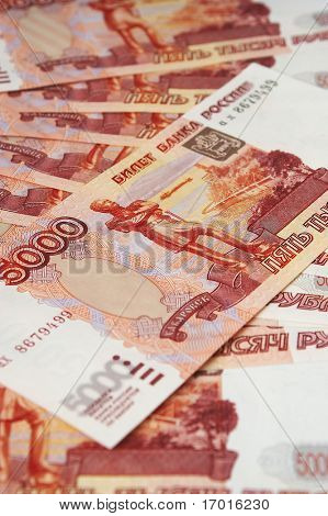 Russian monetary denominations. Advantage of 5000 roubles.