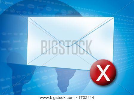 Email Error / Virus Concept