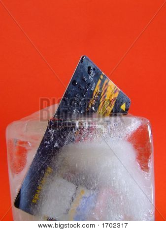 Credit Card Locked In Ice #3