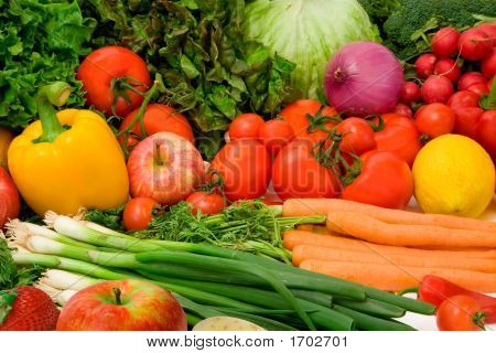 Delicious Vegetables And Fruits