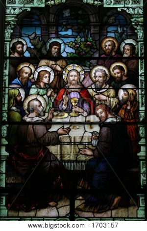 The Last Supper Stained Glass