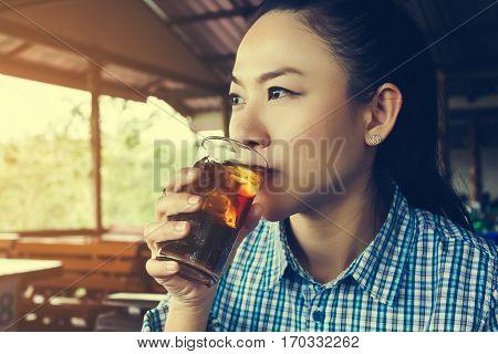 Asian women drink