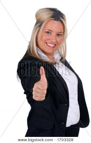 Thumb'S Up Businesswoman