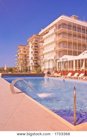 Swimming Pool In A Tourist Resort Lido Di Jesolo