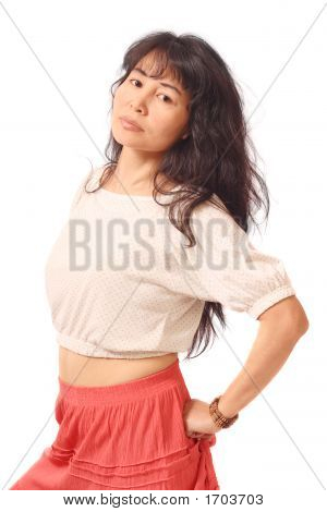 Long-Haired Asian Girl