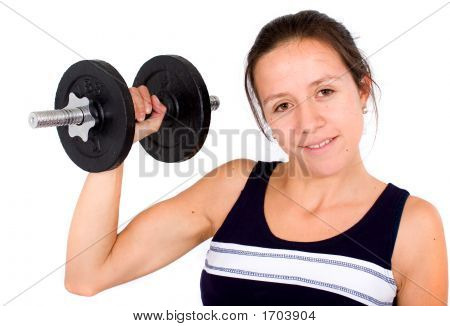 Girl Lifting Freeweights