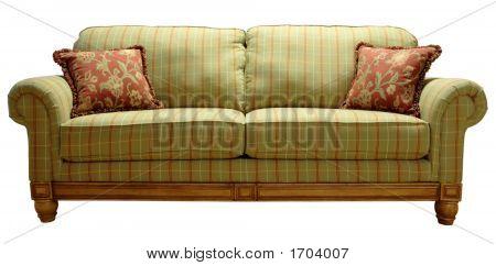 Sofá de tela escocesa de país