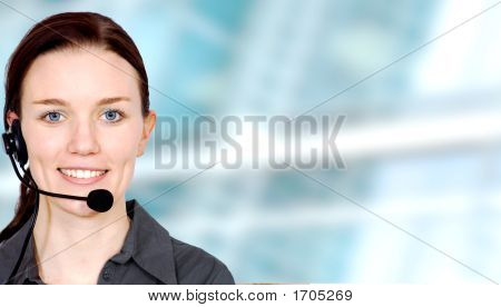 Business Customer Service Girl
