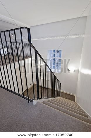 detail to a staircase of a duplex apartment
